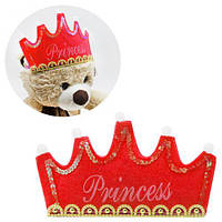 """Обруч """"Принцесса"""" красный, карнавальный костюм,маскарадные костюмы,детские карнавальные костюмы,новогодний"""