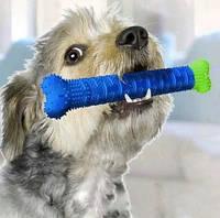 Зубна щітка для собак Сhew brush№ K12-59. Щітка для вихованців. Самоочисна зубна щітка.