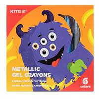 Мелки гелевые с глиттером, 6 цветов K19-095-6