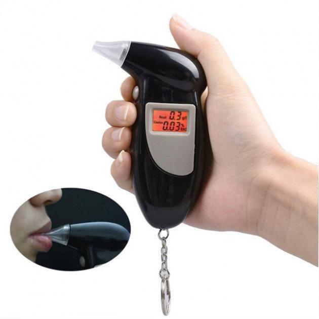 Карманный алкотестер с сменными мундштуками Digital Breath Alcohol Tester