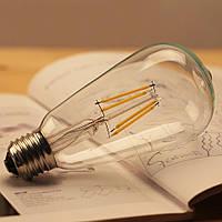 LED лампа Эдисона ST-64  ( ПРОЗРАЧНАЯ / Clear  Filament )  / 4w / 6w/  ПРОСТАЯ / ДИММИРУЕМАЯ