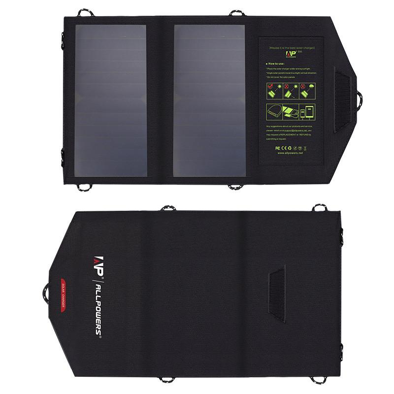 Высокоэффективная солнечная батарея солнечное зарядное устройство ALLPOWERS AP-SP5V10W на элементах sunpower