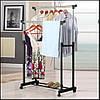 Двойная напольная телескопическая вешалка стойка для одежды Double Pole Clothes Horse (30 кг), фото 8