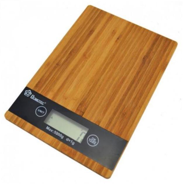 Электронные цифровые кухонные весы до 5 кг с ровной платформой без чаши Domotec MS-A