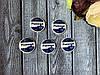 """Кабошон «Учениця на  украинском языке синего цвета"""", 3 х 3 см, 20 шт/уп. оптом"""