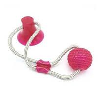 Іграшка для домашніх тварин з присоском, Dog toy rope PULL. Іграшка для тварин., фото 1