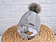Зимова шапка Аляска MagBaby сіра, фото 2