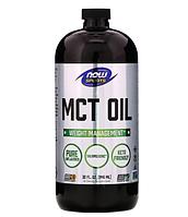 MCT кокосовое масло NOW Foods Sports (США) 946 мл, среднецепочечные триглицериды из кокосового масла