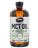 MCT кокосовое масло NOW Foods Sports (США) 473 мл, среднецепочечные триглицериды из кокосового масла