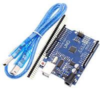 Arduino Uno R3 ATmega328P-AU USB AVR CH340G плата + USB кабель
