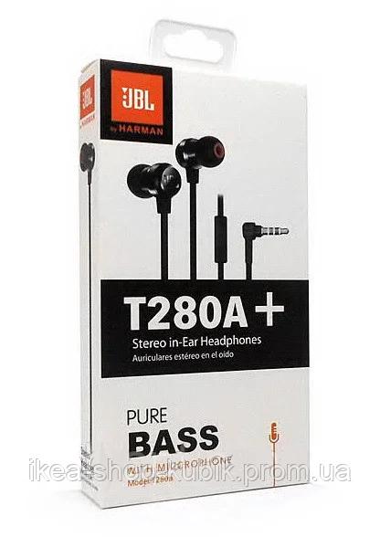 Наушники с микрофоном JBL T280A+