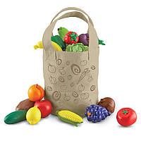 Сумка с овощами и фруктами от Learning Resources