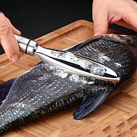 Рыбочистка скребок чистка рыбы нержавейка, фото 1