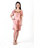 Туника летняя (натуральный шелк 100% ) Розовый беж (М-L)
