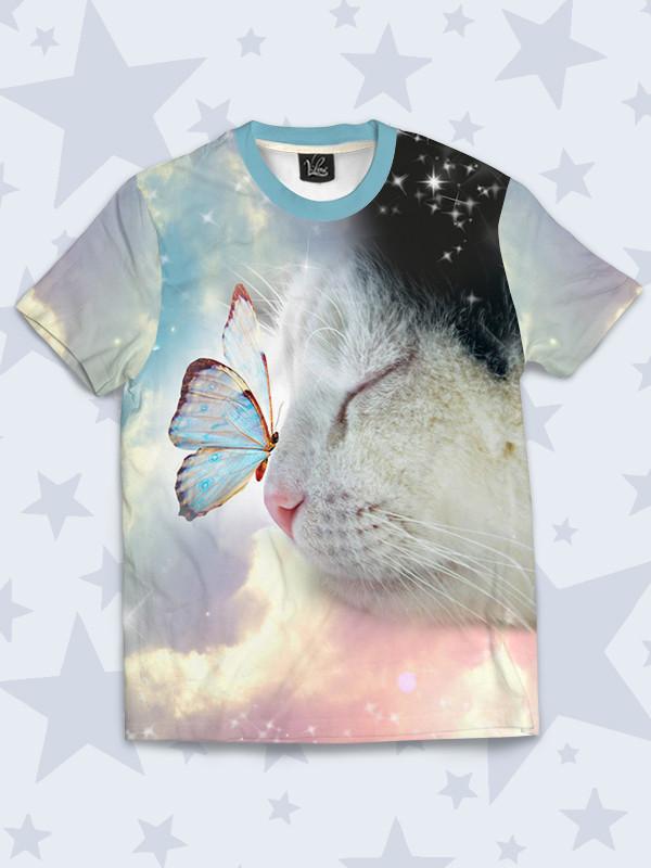 Детская футболка Кошка и Бабочка