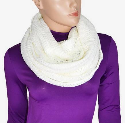 Серый вязаный длинный шарф (P25057)   3 шт., фото 2