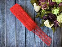 Кружево Ажур 4 см , около 10 м/уп, красного цвета