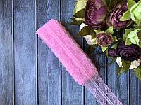 Мереживо Ажур 4 см , близько 10 м/уп, рожевого кольору