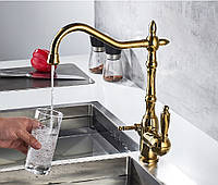 Змішувач для кухні з підключенням фільтрованої води SANTEP 2033G Золото, фото 1