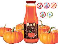Упаковка тыквенного сока Mr Juice с мякотью, прямого отжима, БЕЗ САХАРА 6 X 1л
