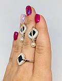 Гарнитур с золотом и ониксом в серебре Джоанна, фото 6