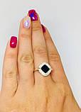 Серебряное кольцо с золотом с ониксом Джоанна, фото 5