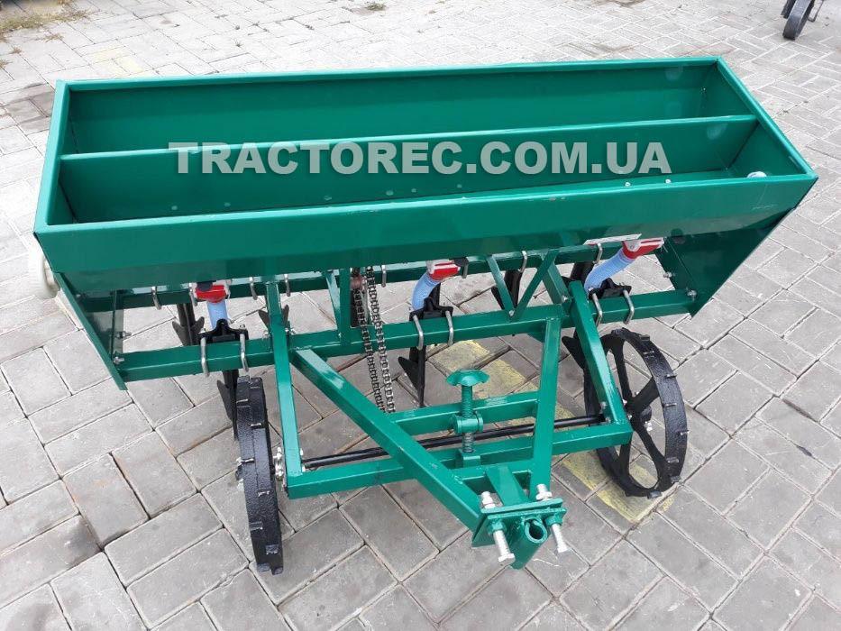 Сеялка зерновая 5-ти рядная с бункером под удобрения для мотоблоков и мототракторов мощностью 6-15 л.с