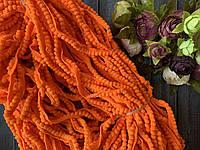 Тасьма з міні помпончиками 100 ярд, яскраво-помаранчевого кольору оптом, фото 1