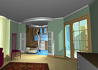 Дизайн інтер'єру загальної кімнати квартири, фото 1