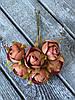 Искусственные цветы ранункулюса, диаметр 2 см, 60 шт в уп., кремового цвета