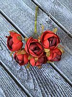 Штучні квіти ранункулюса, діаметр 2 см, 60 шт в уп., кремового кольору, фото 1