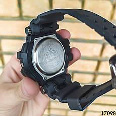 Чоловічі наручні годинники чорні в стилі Casio G-Shock з датою. Годинник чоловічий, фото 2