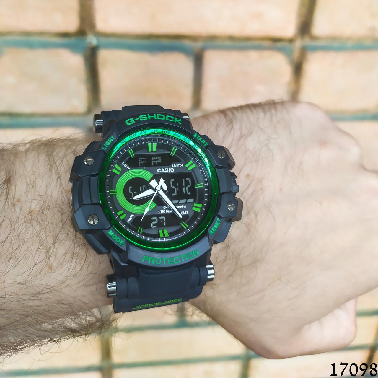 Чоловічі наручні годинники чорні в стилі Casio G-Shock з датою. Годинник чоловічий
