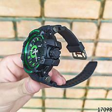 Чоловічі наручні годинники чорні в стилі Casio G-Shock з датою. Годинник чоловічий, фото 3