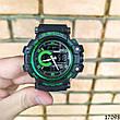 Чоловічі наручні годинники чорні в стилі Casio G-Shock з датою. Годинник чоловічий, фото 4