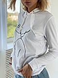 """Модный свитшот женский """"Девушка"""". Размер - 42-46 , 48-50 Цвет - белый,  бежевый,  чёрный, фото 6"""