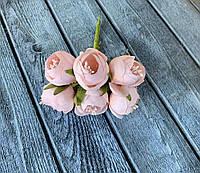 Искусственные цветы ранункулюса, диаметр 3 см, 60 шт в уп., кремового цвета, фото 1