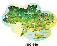 "Оформлення коридору нуш. Наклейка ""Карта України"""