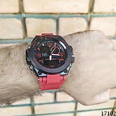 Мужские наручные часы красные в стиле Casio G-Shock с датой. Годинник чоловічий
