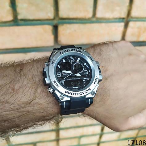 Мужские наручные часы серебристые в стиле Casio G-Shock с датой. Годинник чоловічий, фото 2