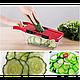 Овощерезка для овощей и фруктов Mandoline Slicer 6 in 1 c контейнером, слайсер , терка, фото 4