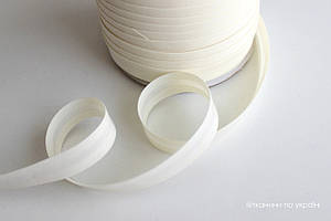 Косая бейка хлопковая молочная 16 мм