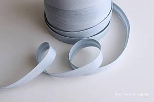 Косая бейка хлопковая серая 16 мм