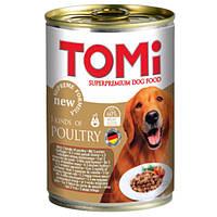 TOMi 3 kinds of poultry 3 ВИДА ПТИЦЫ консервы для собак, влажный корм , 1.2 кг.