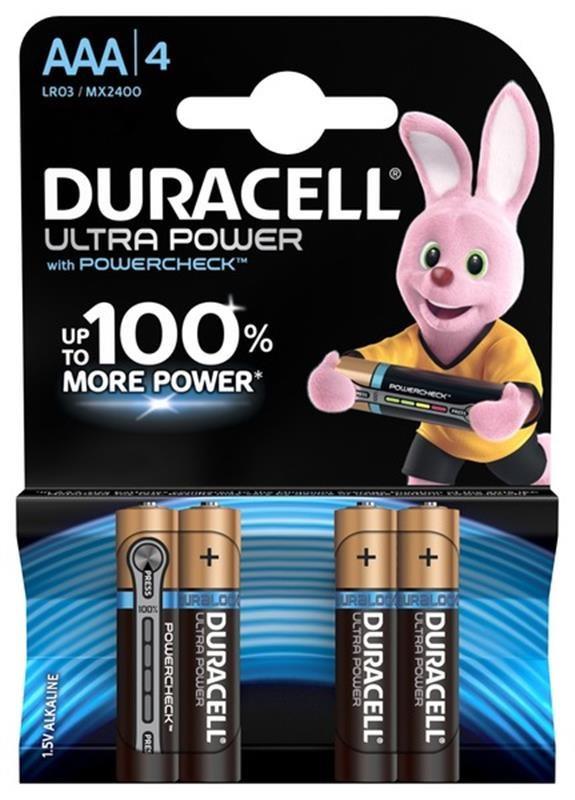 Батарейка Duracell Ultra Power AAA/LR03 BL 4шт