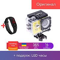 Экшн камера HD Vision F60R - Full HD 4K Wi-Fi с пультом ДУ Yellow (hub_kejR84647)