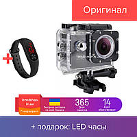 Экшн камера HD Vision F60R - Full HD 4K Wi-Fi с пультом ДУ Grey (u653)