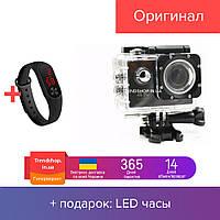 Экшн камера HD Vision F60R - Full HD 4K Wi-Fi с пультом ДУ 24 крепления Black (u4568)