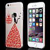 Чехол для iPhone 6/6S Plus силиконовый бабочки со стразами