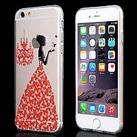Чехол для iPhone 6/6S Plus силиконовый бабочки со стразами, фото 1